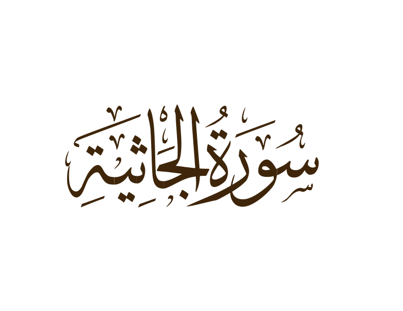 Surah Al-Jathiya ( Crouching ) | English - Yusuf Ali